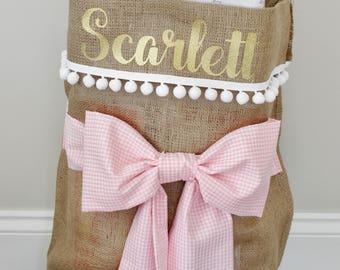 Personalised Gift Sack, Birthday Sack, Santa Sack, Christmas Stocking