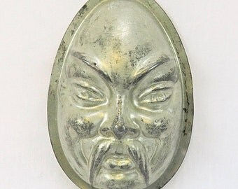 Vintage Old Baking Mold with Asian/Chinese face (Form), Chocolate Egg