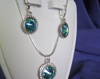 Rivoli Swarovski crystal necklace set