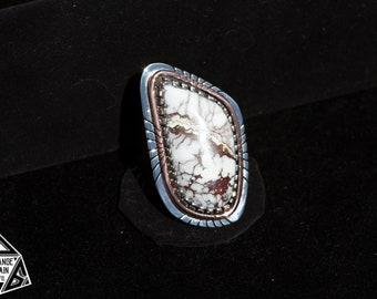 Sterling Silver | Wild Horse | Magnesite | Statement | Ring | Copper | Huge Stone | Large Ring | Big Gemstone | Boho Chic | Southwestern