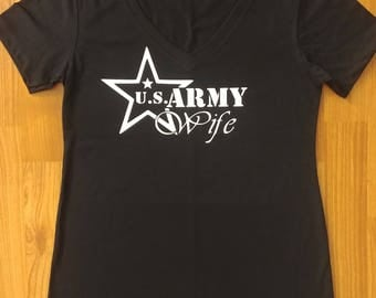 Army - Army Wife - Army Shirt - Womens Army Shirt - National Guard - Army Wife Shirt - Army Mom - Army Family - US Army - Army Wife T-Shirt
