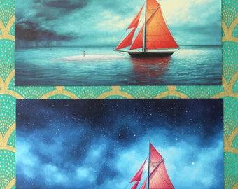 Double Sided Novalog Postcard - The Silver Eye