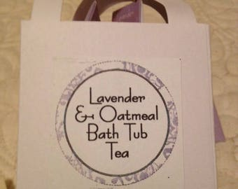 Lavender and Oatmeal Bath Tea (package of 3)