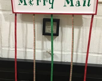 Merry Mail holiday card display