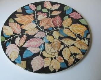 Autumn ceramic plate