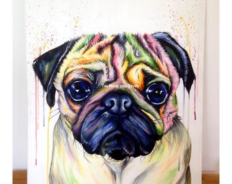 The Moody Pug Art Print