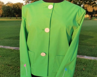 Women's Golf Jacket-Fairway Green
