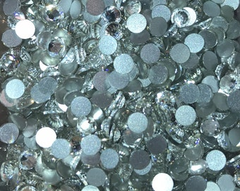 ss16 (4mm) Glass Crystal Rhinestones - CLEAR - Flatback - 144 pcs - 1 GROSS  - bling - Rhinestones - crafts - embellishment
