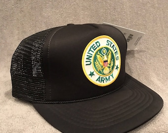 United States Army Veteran or Active Duty Trucker  Hat Snapback Cap 1303