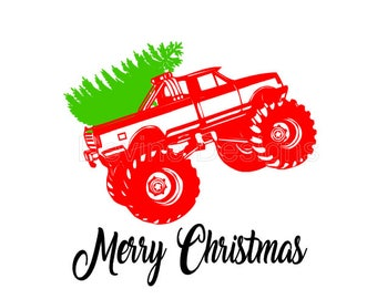 Christmas Monster Truck SVG FILE