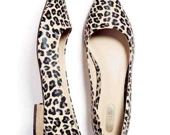 The Mark Leopard Pointy Flats with 1/2 Inch Heels Women's Size 6 Career