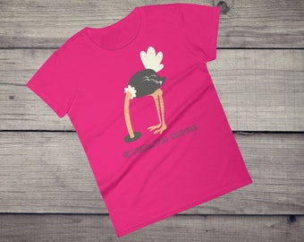 Stealth Mode funny Ostrich T-Shirt Head in sand invisible Women's short sleeve t-shirt tshirt tee