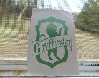 Harry potter decal, harry potter stickers, harry potter laptop decal, harry potter car decal, team hufflepuff decal, team gryffindor decal