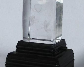 3D Laser Etched Valentine Crystal