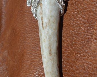 Wire Wrapped Deer Antler Tip