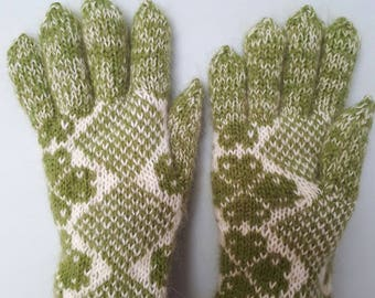 Handmade wool knitted gloves with Latvian soul.MADE TO ORDER.