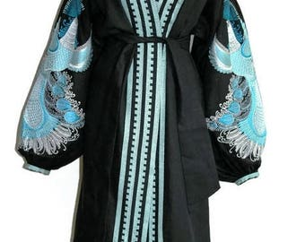 Kaftan Dubai Abaya Dresses Caftan Vyshyvanka Dress Ukrainian Clothing gift Bohemian Clothing Custom Boho Ukraine Vishivanka Open in front