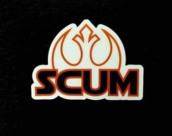 Rebel Scum | vinyl sticker