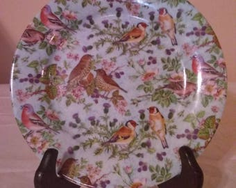 Birds Chintz Collection Plate by Formalities Baum Bros