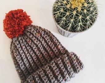 Hand Made Crochet Pom Pom Hat