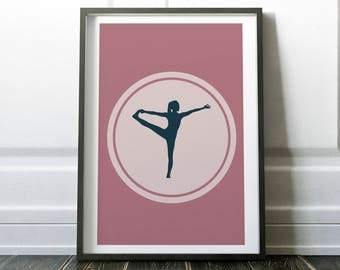 Yoga Print, Yoga Wall Art, Nursery Art, Minimalist, Yoga Art, Yoga Poster, Yoga Pose, Yoga Studio Decor, Digital print, Instant Download