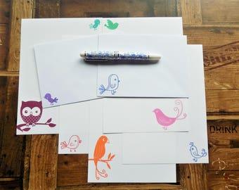 Bird Mix Letter/Writing/Stationary Set