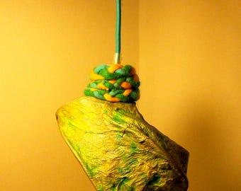Self-produced paper pendant chandelier