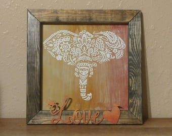Elephant Mandala Sign