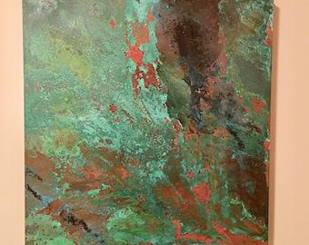 Copper Wall Print (24x24)