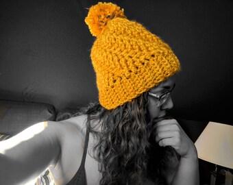 Chunky Winter Pom-Pom Hat