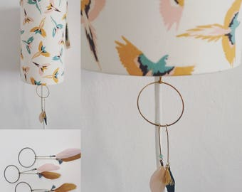 light fabric feathers and parrots