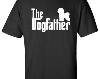 The Dogfather bichon frise Dog Logo Graphic TShirt