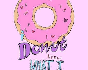 Donut Valentines Day Card
