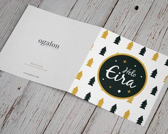 "SALE - Welsh Christmas card | Cardiau Nadolig Cymraeg ""Helo Eira"" | Welsh Gifts"