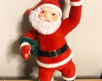 Waving Santa Ornament