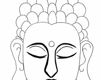 Buddha Drawing Digital Download