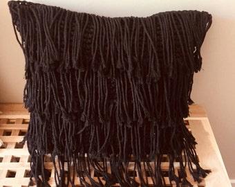 Black Macrame cushion