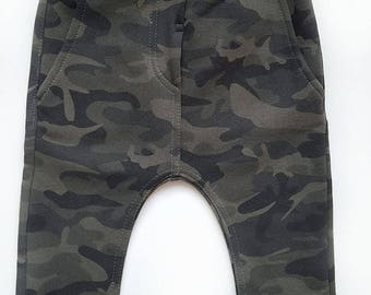 Stylish camouflage trousers, Children's warm trousers, Camouflage pants
