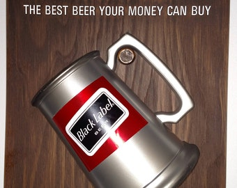Vintage Black Label beer vacuform sign nos