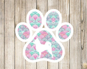 Lilly Dog Print Silhouette decal