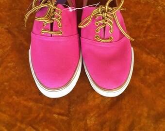 Vintage 1980s Jantzen Hot Pink Deadstock Tennis Shoes