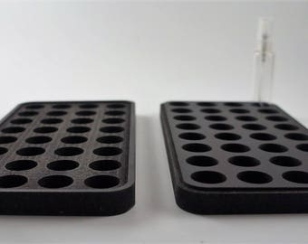 Cologne and Perfume Sample Decant Organizer Holder for 10ml atomizers