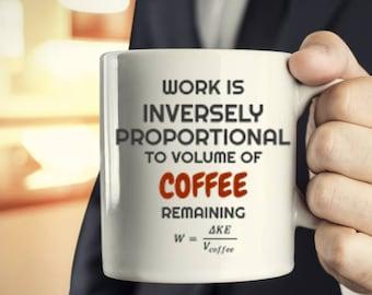 Sci Fi Mug, Science coffee mug, Funny Scientific Novelty coffee Mug, Gift for Mathmatician, Gift for Scientist, Gift for coffee lover