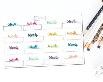 Work Labels - Functional | Planner Stickers