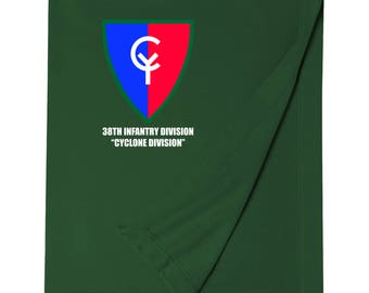 38th Infantry Division Embroidered Blanket-7495