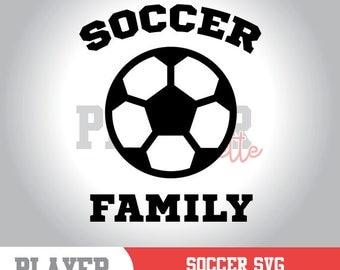 Soccer Family SVG, Soccer SVG, Soccer Sport svg, Soccer Ball digital clipart, Soccer silhouette, cut file, design, A-055