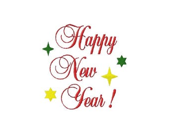 Embroidery Design Happy New Year