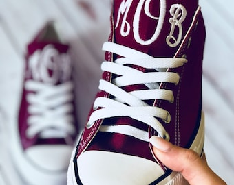 Adult Monogrammed Converse