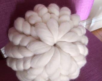 Merino Wool Chunky Knit Pillow