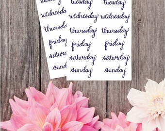 2 Pack - Days of the week Stickers